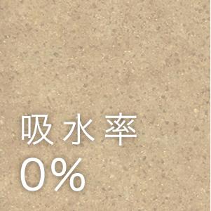 吸水率0%